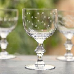 Stars Set of 6 wine goblets, 14.2 x 8.5cm