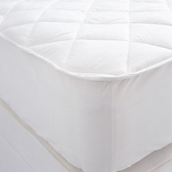 Luxury quilted mattress protector double W140 x L190cm