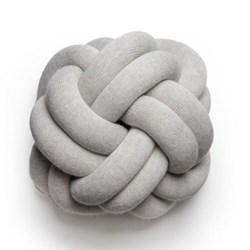 Knot Cushion, 30 x 30 x 15cm, white grey