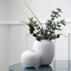 Hammershoi Vase, H20 x W16.5cm, white