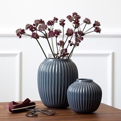 Hammershoi Vase, H20 x W16.5cm, anthracite