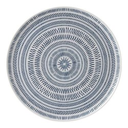 Ellen DeGeneres - Dark Blue Chevron Platter, 32cm