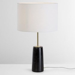 Rita Table lamp, H51 x D9cm, brass and marble