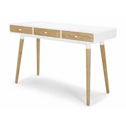 Edelweiss Desk, H77 x W120 x D50cm, white wood and metal