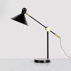 Ogilvy Table lamp, H62 x W49 x D18cm, matt black and antique brass