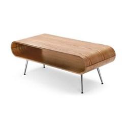 Hooper Storage coffee table, H45 x W120 x D50cm, walnut and ash veneer