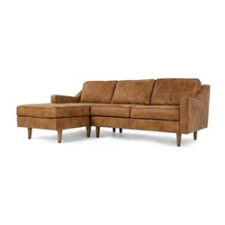 Left hand facing chaise end sofa H77 x W226 x D91cm/156cm