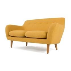 Dylan 2 seater sofa, H83 x W151 x D89cm, yolk yellow plywood/oak