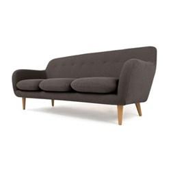 Dylan 3 seater sofa, H83 x W210 x D89cm, marl grey plywood/oak