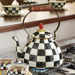 Courtly Check Tea kettle, 22.9 x 11.5 x H33cm - 3 quart, enamel