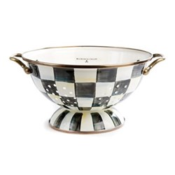 Courtly Check Large colander, 24 x H14cm, enamel