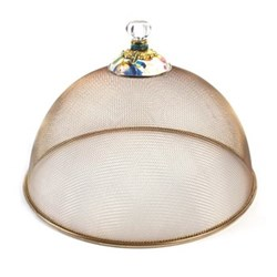 Flower Market Large mesh dome, D38 x H26cm, white