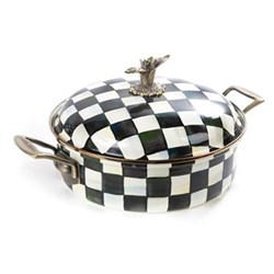 Courtly Check Casserole, D30 x H17cm - 5 quart, enamel