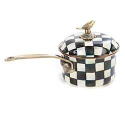 Courtly Check Saucepan, D20 x H19cm - 2.5 quart, enamel
