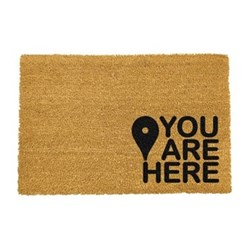 You Are Here Doormat, L60 x W40 x H1.5cm