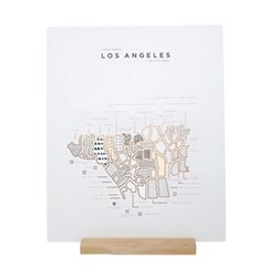 Los Angeles Map print, 40 x 50cm