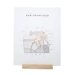 San Francisco Map print, 40 x 50cm
