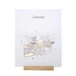 London Map print, 40 x 50cm