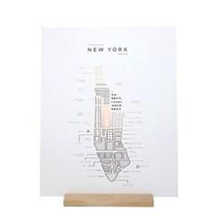 New York Map print, 40 x 50cm