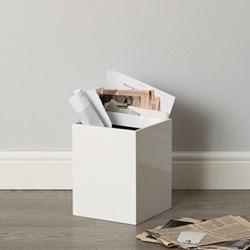 Lacquer waste paper bin 27 x 21 x 21cm