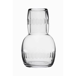 Lens Carafe and glass, 20cm