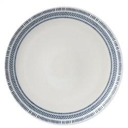 Ellen DeGeneres - Dark Blue Chevron Dinner plate, 28cm