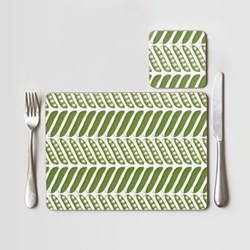 Pea Pod Set of 4 placemats, 28 x 21cm, green