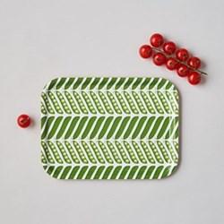 Pea Pod Small tray, 27 x 20cm, green