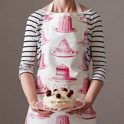 Jelly & Cake Apron, 60 x 80cm, raspberry