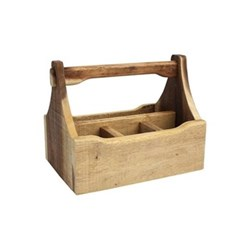 Nordic Table caddy with 4 compartments, 29 x 18.5 x 22cm, natural