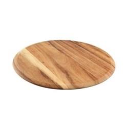 "Baroque - ""Plain"" Pizza / round serving board, 35 x 1.5cm, rustic acacia"