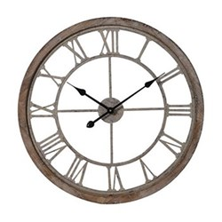 Cut-out clock, D64.5 x H5.5cm, wood