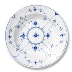 Blue Fluted Plain Soup plate, 21cm