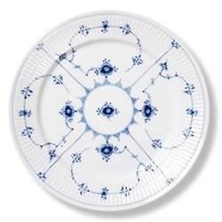 Blue Fluted Plain Plate, 22cm