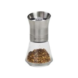 Crushgrind Spice mill, 12.5cm, stainless steel top with removable glass base