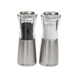 Apollo Salt mill, 15cm, clear acrylic & stainless steel