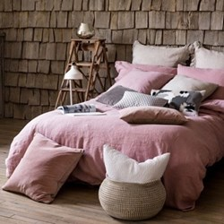 Lisbon King size duvet cover, 230 x 220cm, blush
