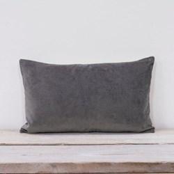 Misi Velvet cushion, 30 x 50cm, silver grey