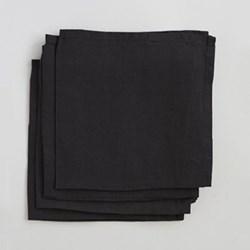 Linen Pack of 4 napkins, 45 x 45cm, black
