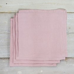 Linen Pack of 4 napkins, 45 x 45cm, blush