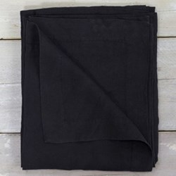 Linen Tablecloth, 140 x 230cm, black