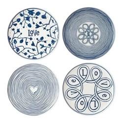 Set of 4 side plates D21cm