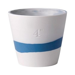 Burlington Planter, 10cm, pale blue/white