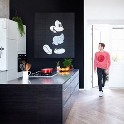 Disney - Mickey Mouse Wall decoration, 80 x 100cm, black and white