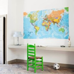 Graphic - The World Wall decoration, 200 x 120cm