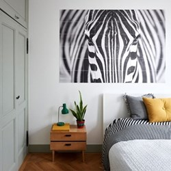 Photographer - Zebra Wall decoration, 120 x 180cm, black/white