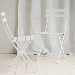 Folding Bistro Chair - Set Of 2 H 82 x W 38cm