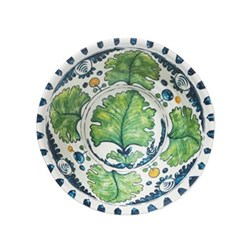 Aragonez Set of 4 Melamine bowls, D17 x H6cm, Green/blue