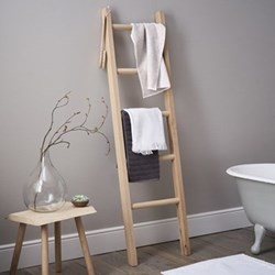 Bathroom ladder, H170 x W48 x D7cm, oak