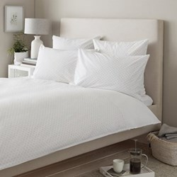 Avignon - 200 Thread Count King size duvet cover, W225 x L220cm, white/grey
